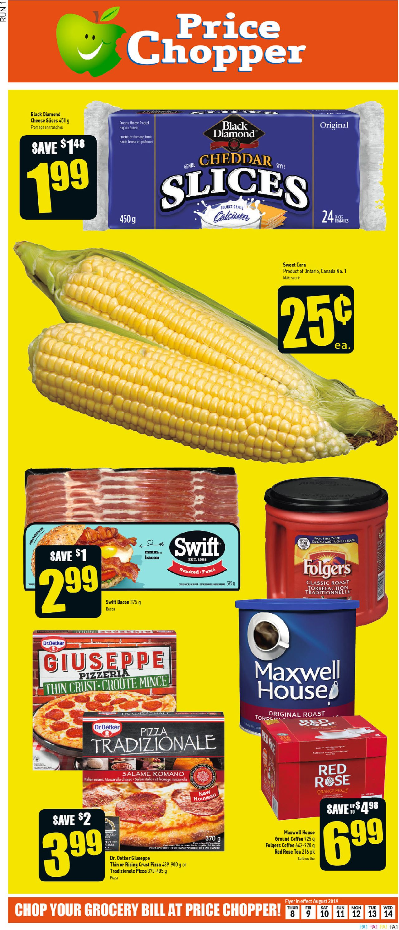 Price Chopper flyer valid from Aug. 08, 2019 page number 1